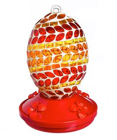 Take a look at this Red & Orange Mosaic Stripe Hummingbird Feeder today!