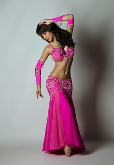 pink belly dance clothing