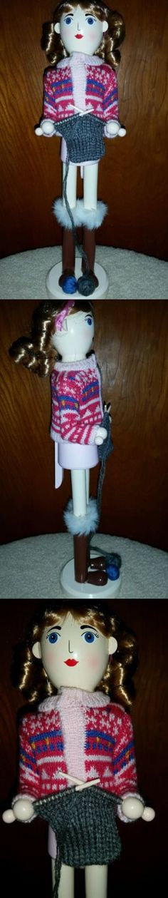 Patterns-Vintage 150135: Knitter Nutcracker Girl Making Sweater 15 Inch High -> BUY IT NOW ONLY: $40 on eBay!
