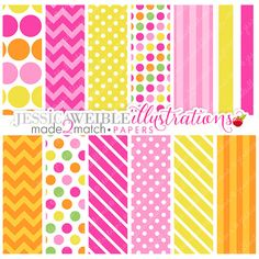 Made 2 Match Classroom Girl Monkeys Cute Digital Paper Backgrounds for Commercial or Personal Use, Pink Papers, Patterns