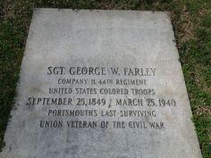 Portsmouth's last surviving Union Veteran  Greenlawn Cemetery  Portsmouth, Ohio
