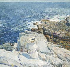 """The South Ledges, Appledore"" by Childe Hassam. 1913 oil on canvas. In the collection of the Smithsonian's American Art Museum, Washington, DC. Gift of John Gellatly."