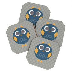 Vy La Geo Owl Solo Blue Coaster Set from DENY Designs. Saved to COASTERS. Shop more products from DENY Designs on Wanelo.