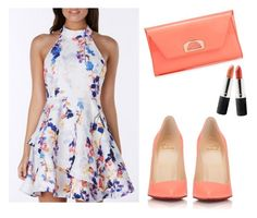 """""""Peach Flowers"""" by sarah-david99 ❤ liked on Polyvore featuring Christian Louboutin and Terre Mère"""