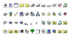 vaporwave windows Youll never convince me that the Windows 95 icon set isnt perfect. Windows 95, Iphone App Design, Iphone App Layout, App Icon Design, Web Design, Iphone Wallpaper App, Microsoft Wallpaper, Iphone Home Screen Layout, Computer Icon