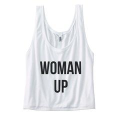 Woman Up Womens Flowy Boxy Tank