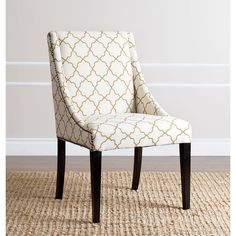 $204 ABBYSON LIVING Sara Gold Lattice Swoop Dining Chair - Overstock Shopping - Great Deals on Abbyson Living Dining Chairs