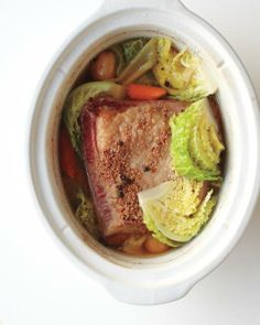 Slow-Cooker Classics // Slow-Cooker Corned Beef and Cabbage Recipe