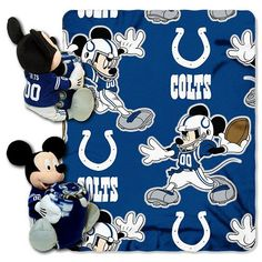 Disney Cleveland Browns Mickey Mouse Plush and 40'' x 50'' Fleece Throw Blanket Set