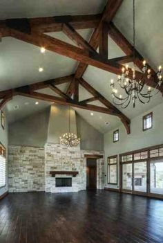 """The flooring throughout the house is wood looking tile from Stone Solutions Dakota 8""""x48"""" with grout line of 1/16 to give that wood look"""