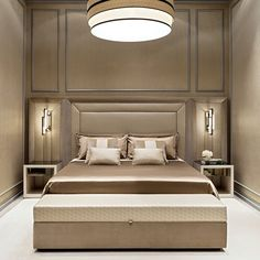 The impact of bedroom furniture will make you have a good night's sleep. Let's face it, and a modern bedroom furniture design can easily make it happen. Bedroom Furniture Design, Bedside Table Design, Modern Bedroom Furniture, Luxury Furniture, Luxurious Bedrooms, Small Bedroom, Bedroom Furniture Sets, Luxury Bedding, Upholstered Beds