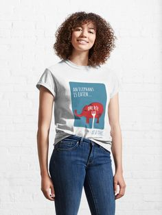 """'You Eat an Elephant One Bite at a Time' Illustration"" T-shirt by PositivePrinted 