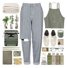 """""""100916 // weekend"""" by rosemarykate ❤ liked on Polyvore featuring Sarah Chloe, Topshop, Hermès, Jack Wills, Frette, Forever 21, Crate and Barrel, Moscot, LAFCO and casual"""