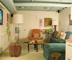 how to paint a basement ceiling - Google Search