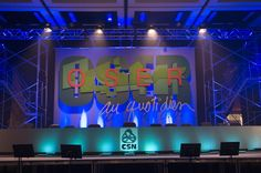 """Lucion - """"CSN annual meeting, 2008"""", scenography and video projection http://www.lucionmedia.ca"""