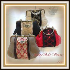 Bolsos  de boquilla vintage hechos a mano