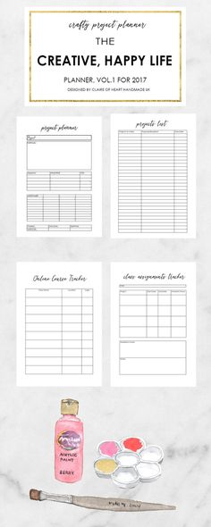 Creative Happy Life Printable Planner Bonuses. Including Planner stickers and free cut file, printable quotes to use as planner dashboards and an e-mail course to help you get organised using your planner