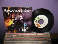 "VINYL LOVE SALE Vinyl Record Prince - Let's Go Crazy b/w Erotic City  7"" 45 Rpm 1984 Sexy Pop Hit Singles"