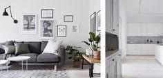 Una casa sobria decorada en blanco y gris - http://www.decoora.com/una-casa-sobria-decorada-blanco-gris/