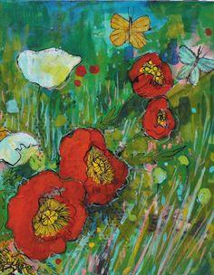 Postcard  Poppy walk by Maria PaceWynters by MariaPaceWynters, $2.00