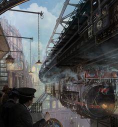 Steampunk Train Platform by Lincoln Renall