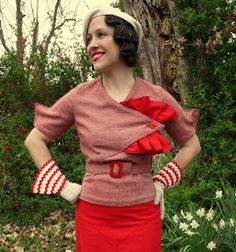 Using Eva Dress Pattern. 1930's Blouse