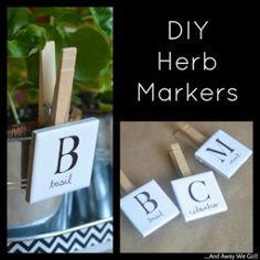 DIY Herb Markers - A Custom Looking Plant Label Gift Idea