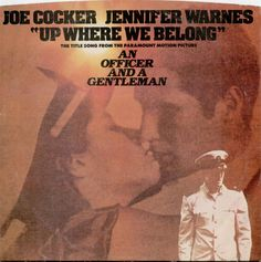 "April ""Up Where We Belong"" is a song written by Jack Nitzsche, Buffy Sainte-Marie, and Will Jennings. It was recorded by Joe Cocker and Jennifer Warnes for the 1982 film An Officer and a Gentleman. Jennifer Warnes, Joe Cocker, 45 Records, Vinyl Records, 80s Album Covers, Buffy Sainte Marie, An Officer And A Gentleman, Dream Song, Frank Zappa"
