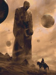 """Statue of the World Builder"" by Halil URAL or as I would call it: ""His Holyness's Hovering Balls."""