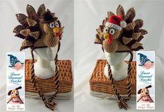 Holiday Turkey Crochet Beanies