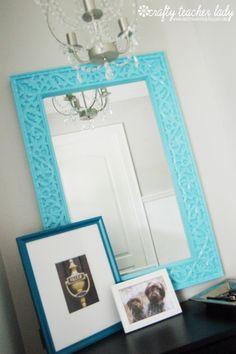 Crafty Teacher Lady: Aqua mirror makeover