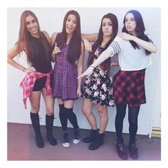 (left→right) all black + different colored flannel // pom pom dress + knee-high socks // dress + combat boots // cute ▪▫ girly ▪▫ tomboy ▪▫ teen ▪▫ summer ▪▫ dress ▪▫ combat boots ▪▫ knee-high socks