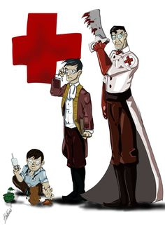 As Time Goes By by BeatusCineris on DeviantArt He is indeed a great biologist. He brought people/birds back from the dead. Tf2 Pyro, Tf2 Funny, Team Fortress 2 Medic, Valve Games, Tf2 Memes, Team Fortess 2, Business Cat, Medical Pictures, As Time Goes By
