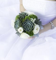 #Succulent #Wedding #Bouquet
