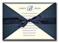 Navy wrap around invitation