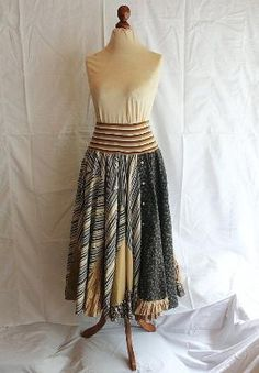 Recycled Skirt made from Men's Shirts Upcycled Repurposed Woman's Clothing Funky Style Shabby Chic Eco Friendly by proteamundi