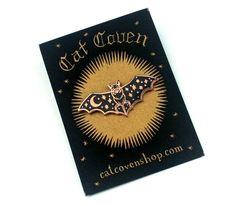 CAT COVEN CREATURE OF THE NIGHT COPPER LAPEL PIN - Ritual Ritual - Cat Coven