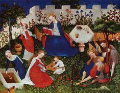 Maestro del Giardinetto del Paradiso di Francoforte, Madonna e santi nel giardino del Paradiso - Cerca con Google
