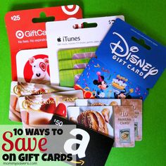 10 Ways to Save on Gift Cards - Some of them may surprise you!