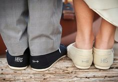 His and Her's Tom's wedding day shoes