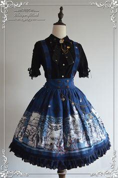 Whisper Of The Wind -Alice In Mirrorland Series- Lolita Salopette/Skirt 73.99USD - My Lolita Dress