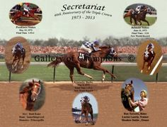 Secretariat 40th Anniversary Triple Crown Print