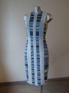 striped jeans dress