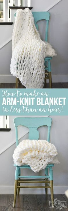 How to make a beautiful arm knit blanket in less than an hour!