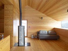 Gaudin House - Small Cabin - Savioz Fabrizzi Architectes - Switzerland - Living Area - Humble Homes Cabin Design, House Design, Journal Du Design, Compact House, Stone Barns, Small Buildings, Interior Design Magazine, Winter House, Contemporary Architecture