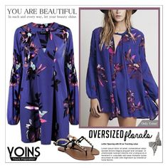 """""""Oversized Florals with - Yoins"""" by water-polo ❤ liked on Polyvore featuring yoins and oversizedflorals"""