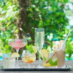 6 delicious recipes with and without alcohol for hot Summer days. Refreshing, thirst-quenching and certainly very tasty!
