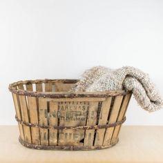 Caja de madera ovalada de transporte   Antic&Chic