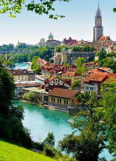 In Bern, Switzerland. Places In Switzerland, Switzerland Vacation, Switzerland House, Murren Switzerland, Switzerland Christmas, Switzerland Summer, Geneva Switzerland, Beautiful Places To Visit, Wonderful Places