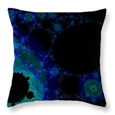 Fractal throw pillow. Artwork designed by Tracey Lee Art Designs.